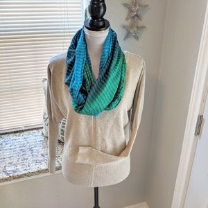 Gorgeous sea blues and greens infinity scarf